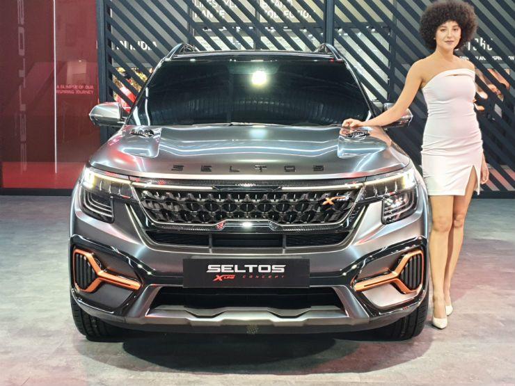 175 Bhp Kia Seltos X Line Showcased At 2020 Auto Expo In 2020 Kia Automobile Marketing Kia Motors