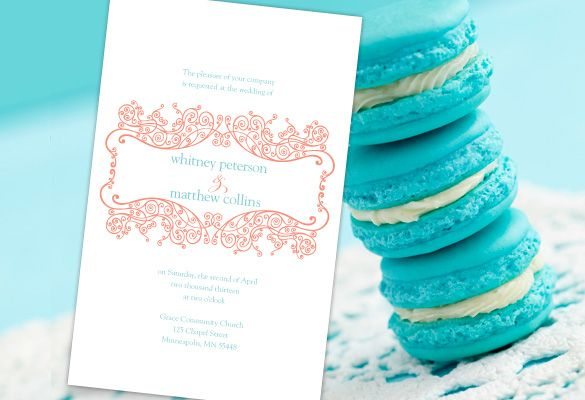 Turquoise And Coral Wedding Invitations: Color Monday: Coral & Turquoise Palette