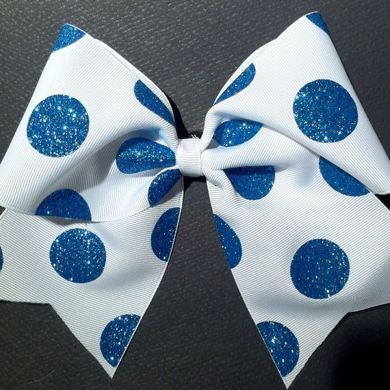 3in. Glitter Polka Dot Cheer Bow on Wanelo