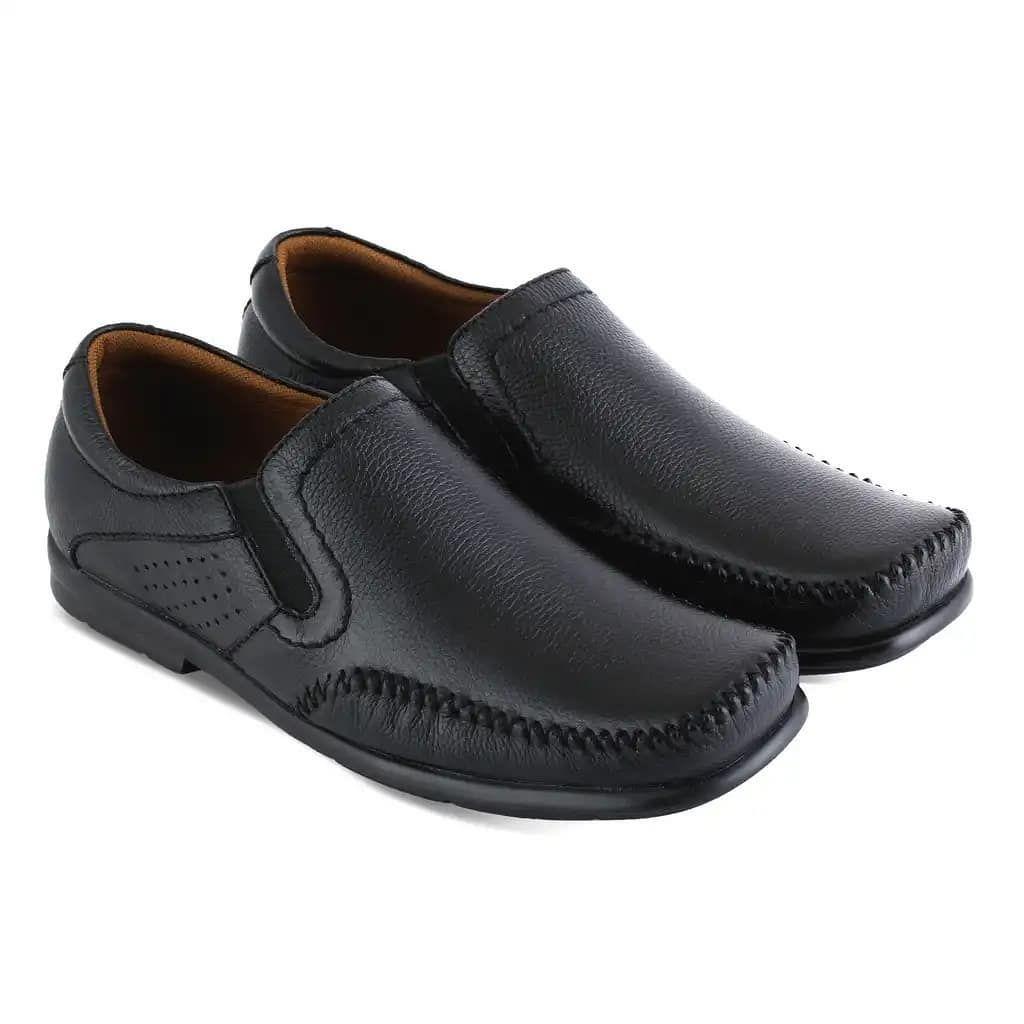 Sepatu Casual Pria Jar 176 Bhn Kulit Sol Tpr Wrn Hitam 38 43
