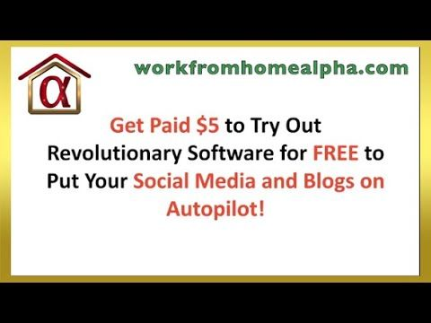 Get PAID To Try Out Revolutionary Software for FREE! WorkFromHomeAlpha - Master Home Productivity  Get access to useful products and services to master your home productivity!  Plus, get PAID to test FREE trial marketing software!  #workfromhome #wfhalpha #workfromhomealpha #homeproductivity #homebasedbusiness #onlinebusiness