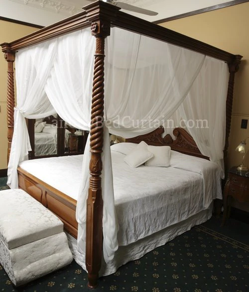 Four Poster Bed Frame With Curtains