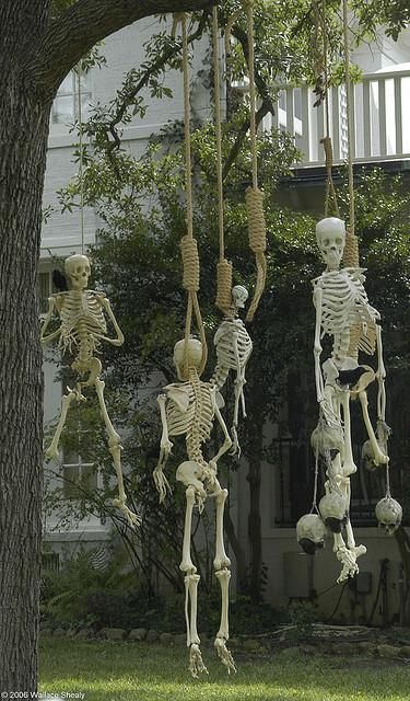 Joyce Last Hanging Outdoor halloween decorations, Outdoor - how to make halloween decorations for yard