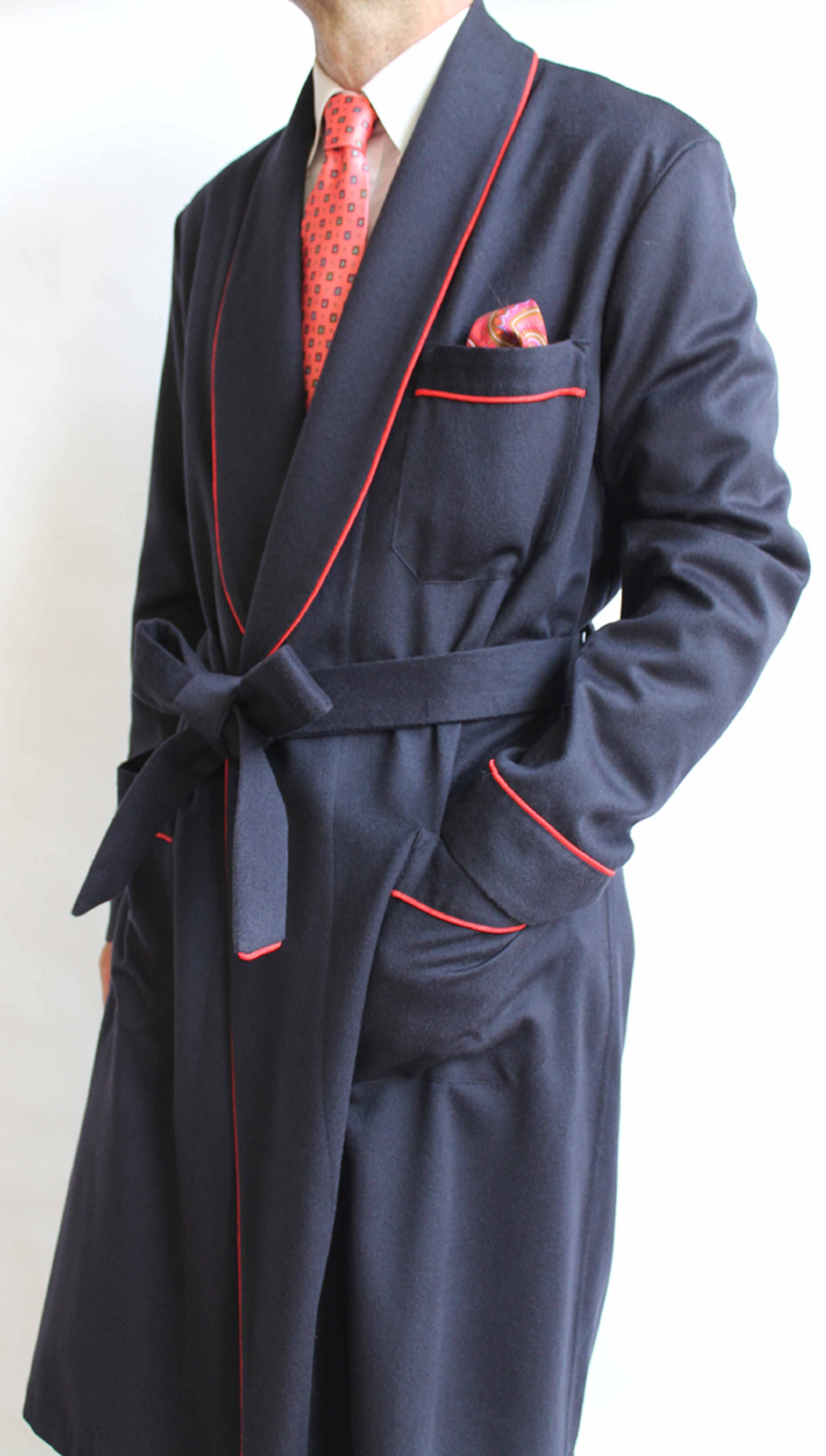 50% price quality latest trends of 2019 CLASSIC DRESSING GOWN FOR MAN IN 10%CASHMERE-90% WOOL WITH ...