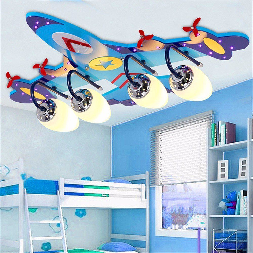 pilotenzimmer flugzeug deckenlampe in blau flugzeuglampe f r das kinderzimmer deckenleuchte. Black Bedroom Furniture Sets. Home Design Ideas
