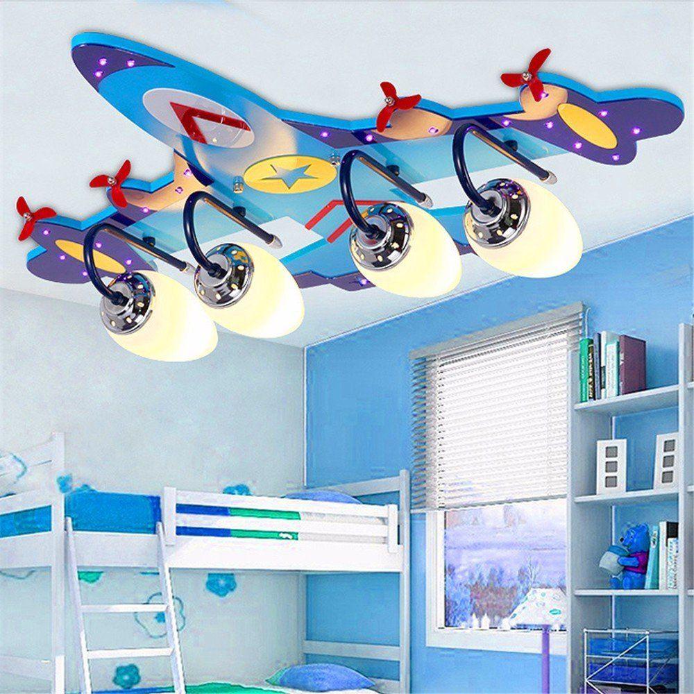 ✈ Pilotenzimmer: Flugzeug Deckenlampe in blau | Flugzeuglampe für ...