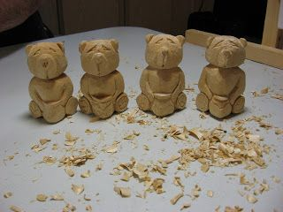 Honey bears site has lots of photos and some video demos. wood