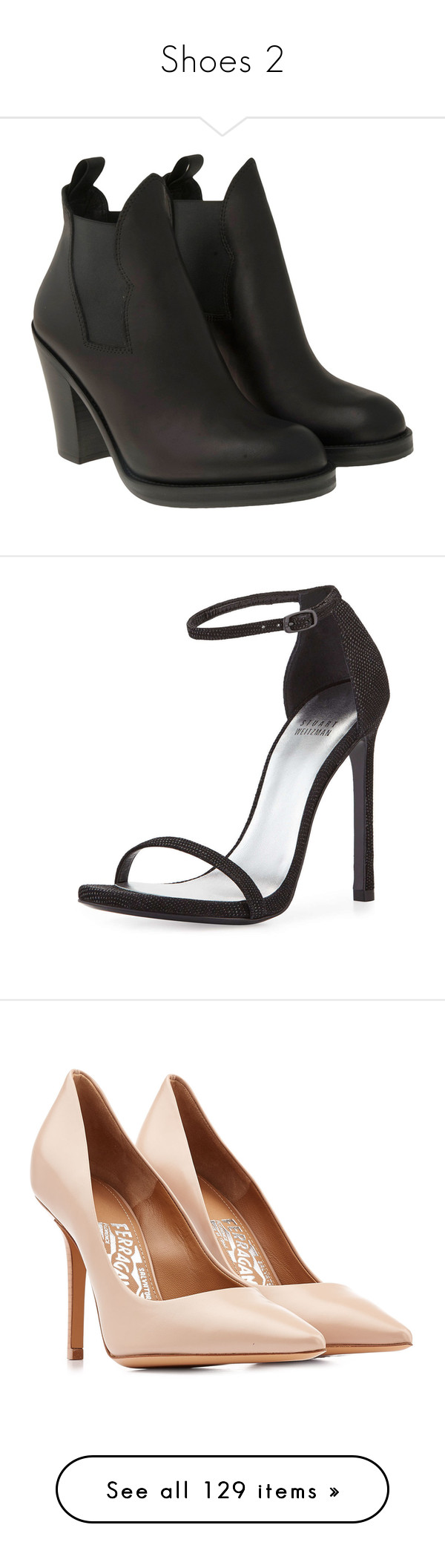 """""""Shoes 2"""" by unstable-viper on Polyvore featuring shoes, boots, ankle booties, footwear, ankle boots, high heel booties, leather ankle boots, high heel bootie, real leather boots et sandals"""