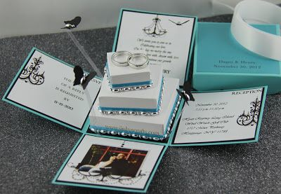 Cloth Paper Crafts and More Tiffany Inspired Invitation Box