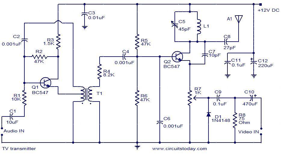 Tv Diatribution Wiring Diagram,  http://bookingritzcarlton.info/tv-diatribution-wiring-diagram/ | Electronic  kits, Electronics projects, TransmitterPinterest