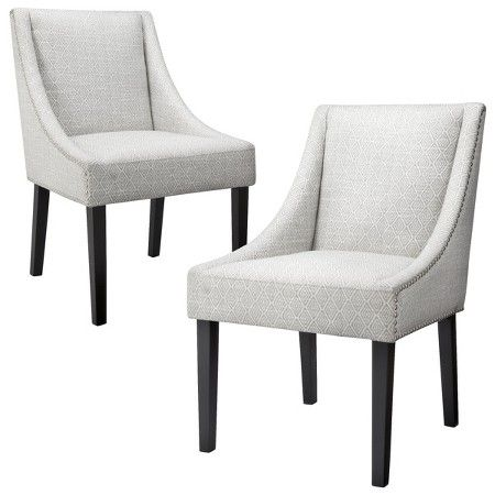 Peachy Griffin Nailhead Cutback Dining Chair Diamond Blue Gray Andrewgaddart Wooden Chair Designs For Living Room Andrewgaddartcom