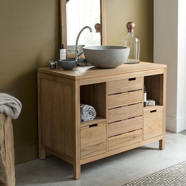 Meuble Salle de bain en en bois de teck 100 Serena House - meuble salle de bain en chene massif