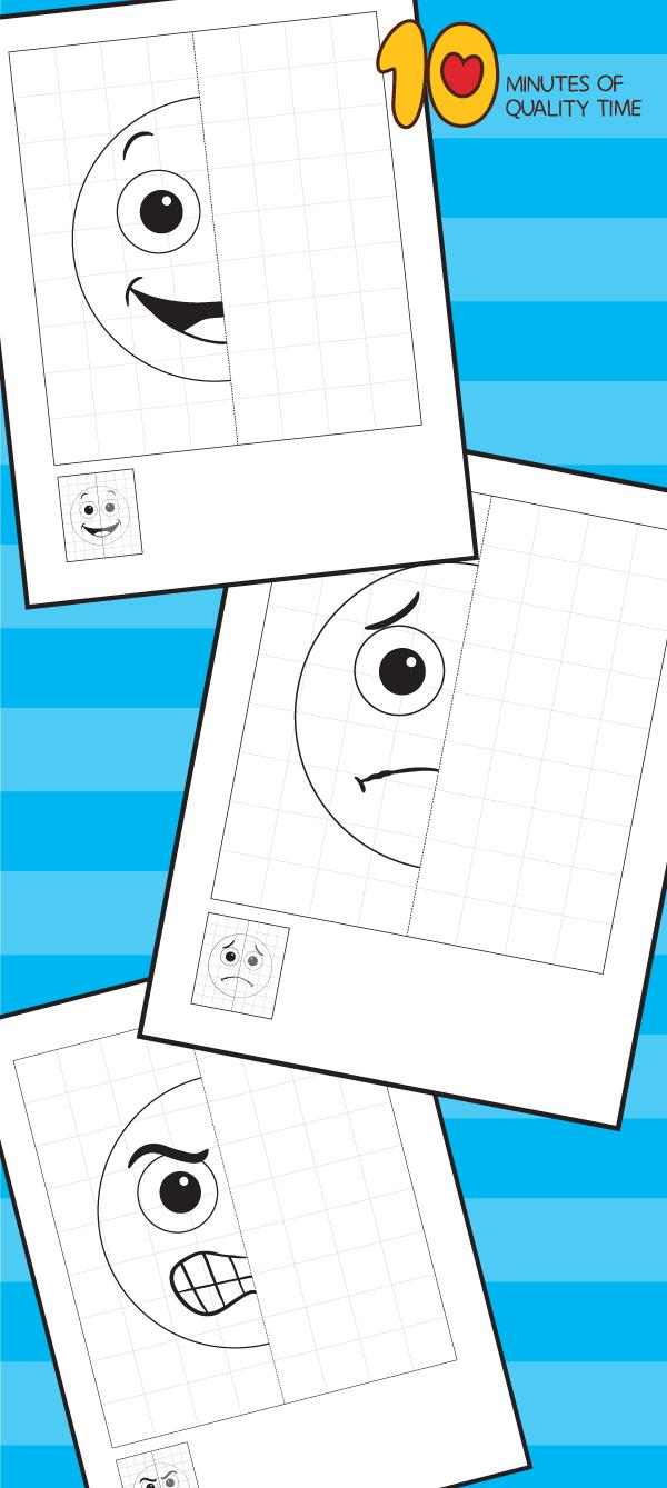 Emotions 5 Symmetry Worksheets Symmetry Worksheets Emotions Drawing For Kids [ 1339 x 600 Pixel ]