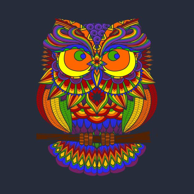 check out this awesome 'rainbowowlart' design on