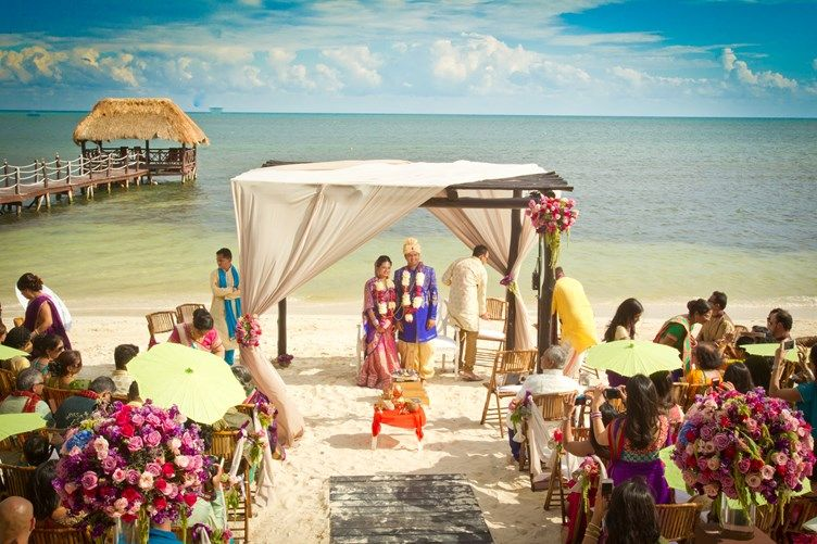 A beachside indian destination wedding mexico indian a beachside indian destination wedding mexico junglespirit Images