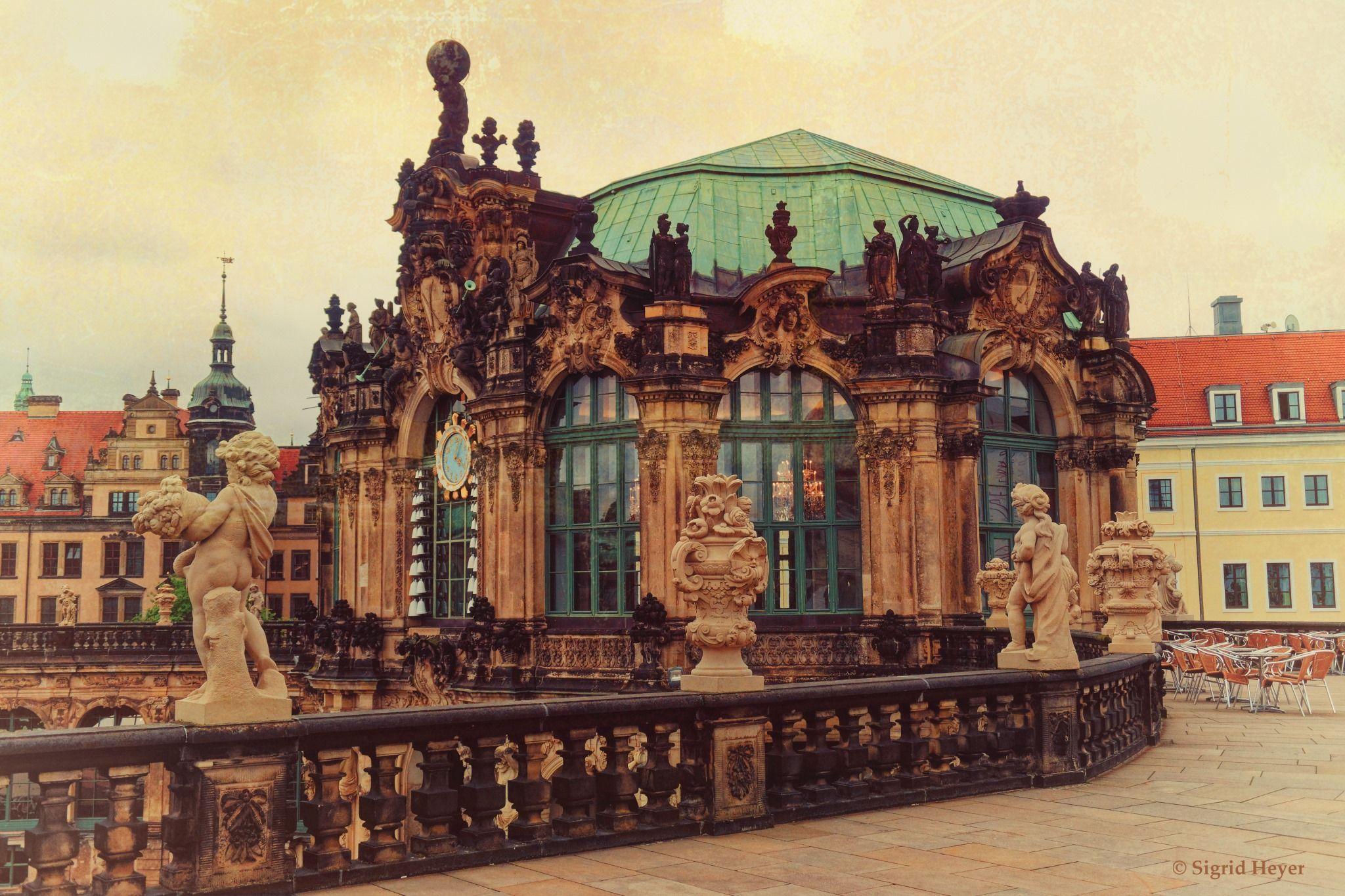 Blick Zum Glockenspielpavillon C Sigrid Heyer Fotokunst Dresdner Zwinger Dresden