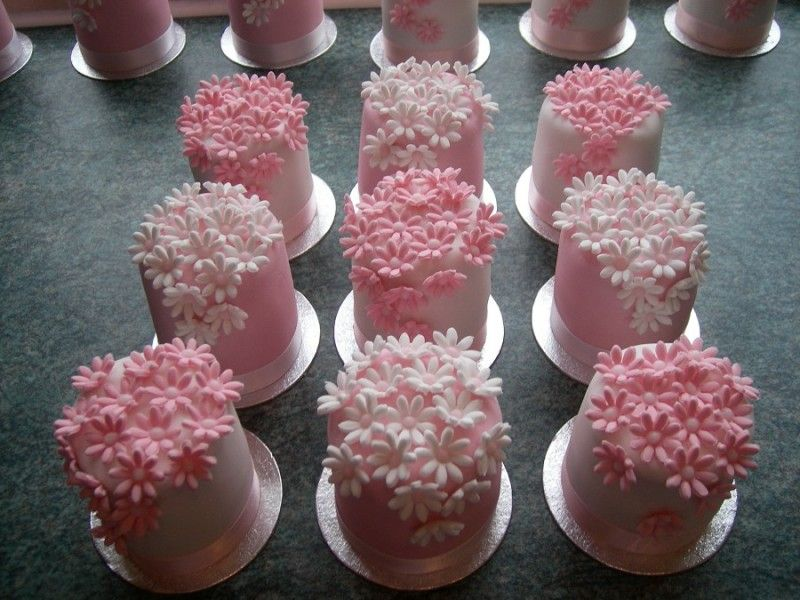 Sweet mini cakes perfect for a girly birthday party Food