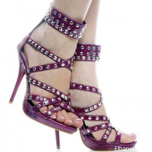 احذية نسائية 2014 احذية موف كعب موديلات احذية لعشاق اللون الموف اكسسوارات بنوته أزياء بنوته بنوته كافيه Dress Shoes Womens Girls Heels Heels