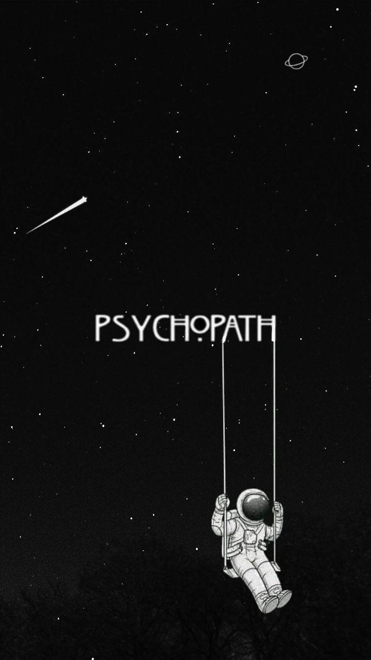 Black Psychopath Space Wallpaper Black Aesthetic Wallpaper