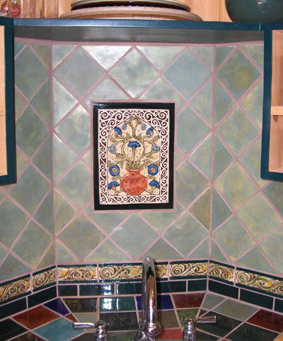 Decorative Ceramic Tile Instalation