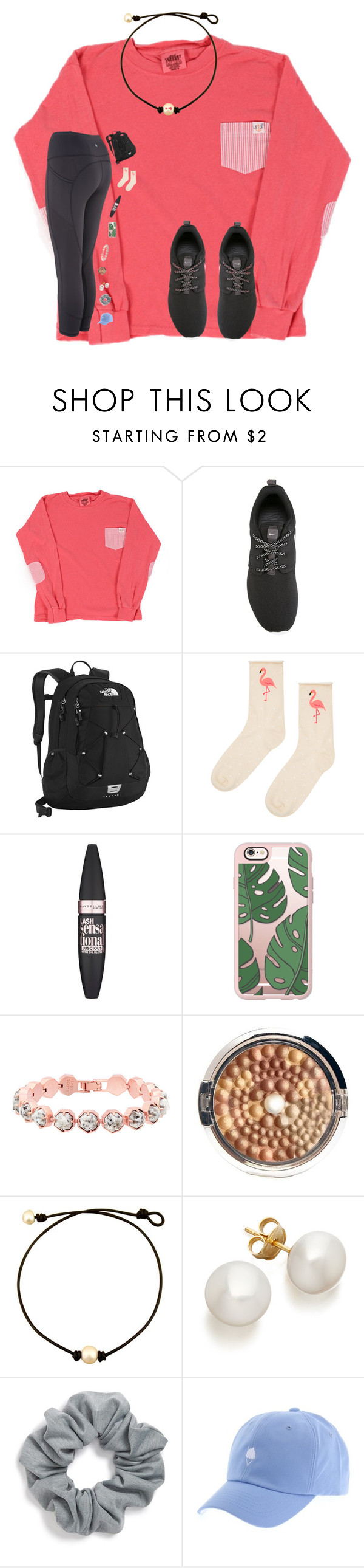 """Why not go out on a limb? That's where all the fruit is"" by avazumpano ❤ liked on Polyvore featuring NIKE, The North Face, Accessorize, Maybelline, Casetify, Kendra Scott, Physicians Formula and Natasha Couture"