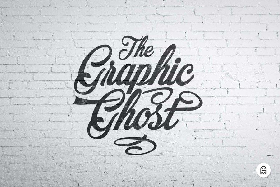 Graphic Ghost Free Wall Mockup Sign Mockup Free Mockup Wall Logo