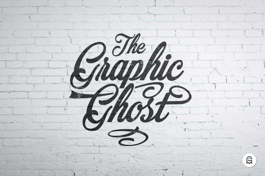Graphic Ghost Free Wall Mockup Sign Mockup Free Mockup Wall Logo