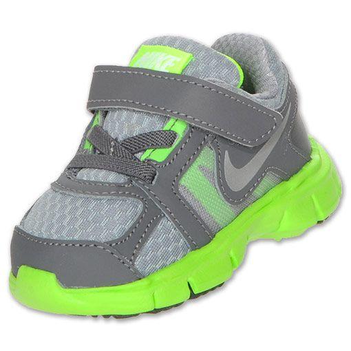 Nike Dual Fusion Toddler Running Shoes| FinishLine.com | Stealth/Metallic Silver/Dark Grey/Lime New sneaks I just got Dashel