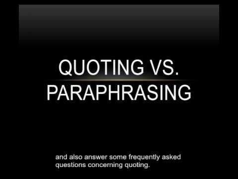 Block Quotes Apa In This Tutorial Learn The Differences Between Quotations And .