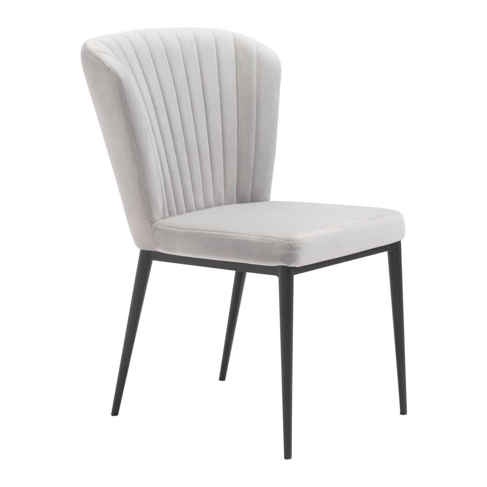 Zuo Tolivere Gray Velvet Dining Chair Set Of 2 101103 In 2020