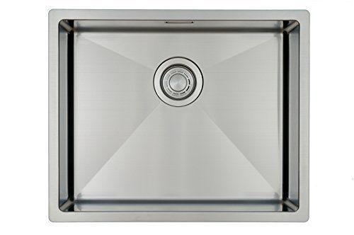Évier/ lavabo Mizzo Linea 50-40 \u2013 évier de cuisine acier inoxydable - mitigeur cuisine avec douchette extractible