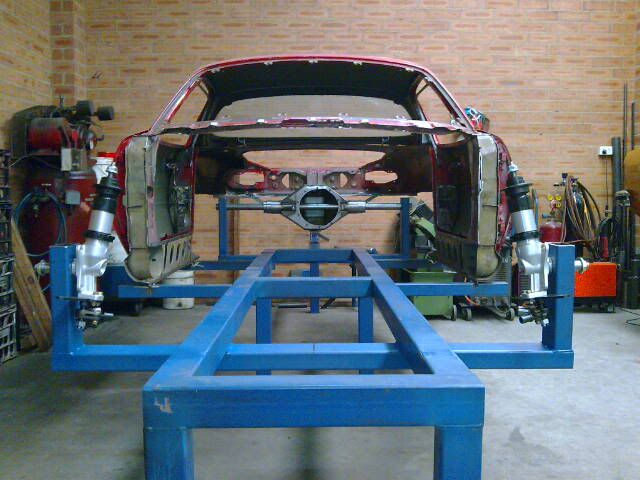 On Jig Ready For Chassis Chassis Fabrication Jig Metal Working Tools