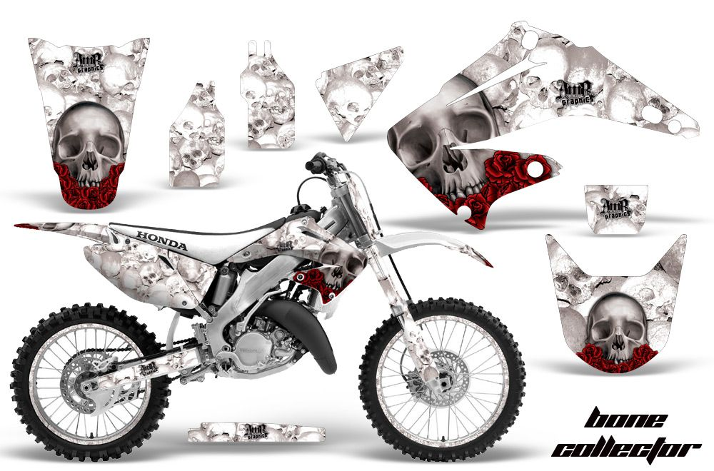 Honda cr125 cr250 graphics kit 1995 2015 honda mx decals and stickers for dirt