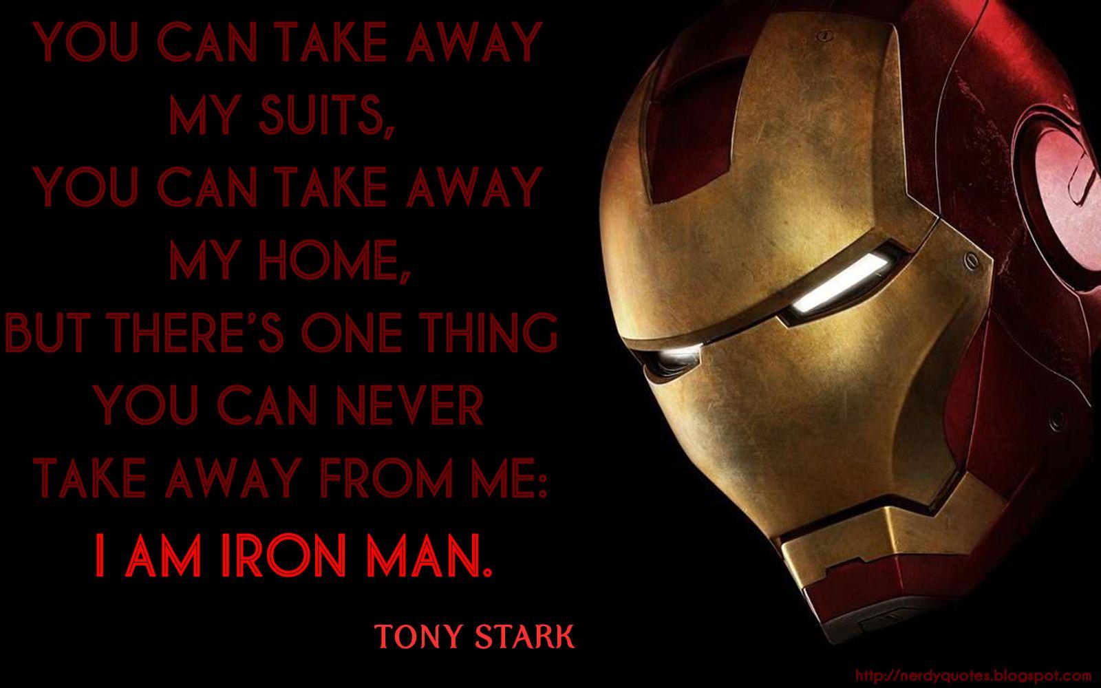 Best Iron Man Quotes Iron Man 3 Quotes | Movie Quotes | Iron Man, Superhero, Iron man  Best Iron Man Quotes