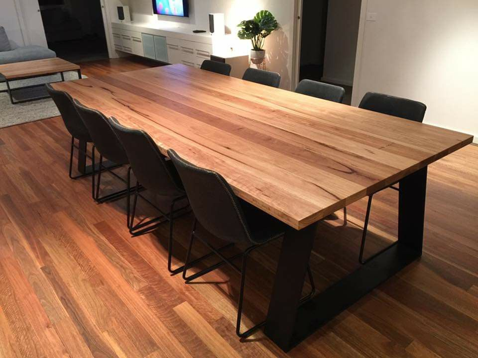Blackbutt Dining Table Timber Dining Table Recycled Timber Furniture Timber Table