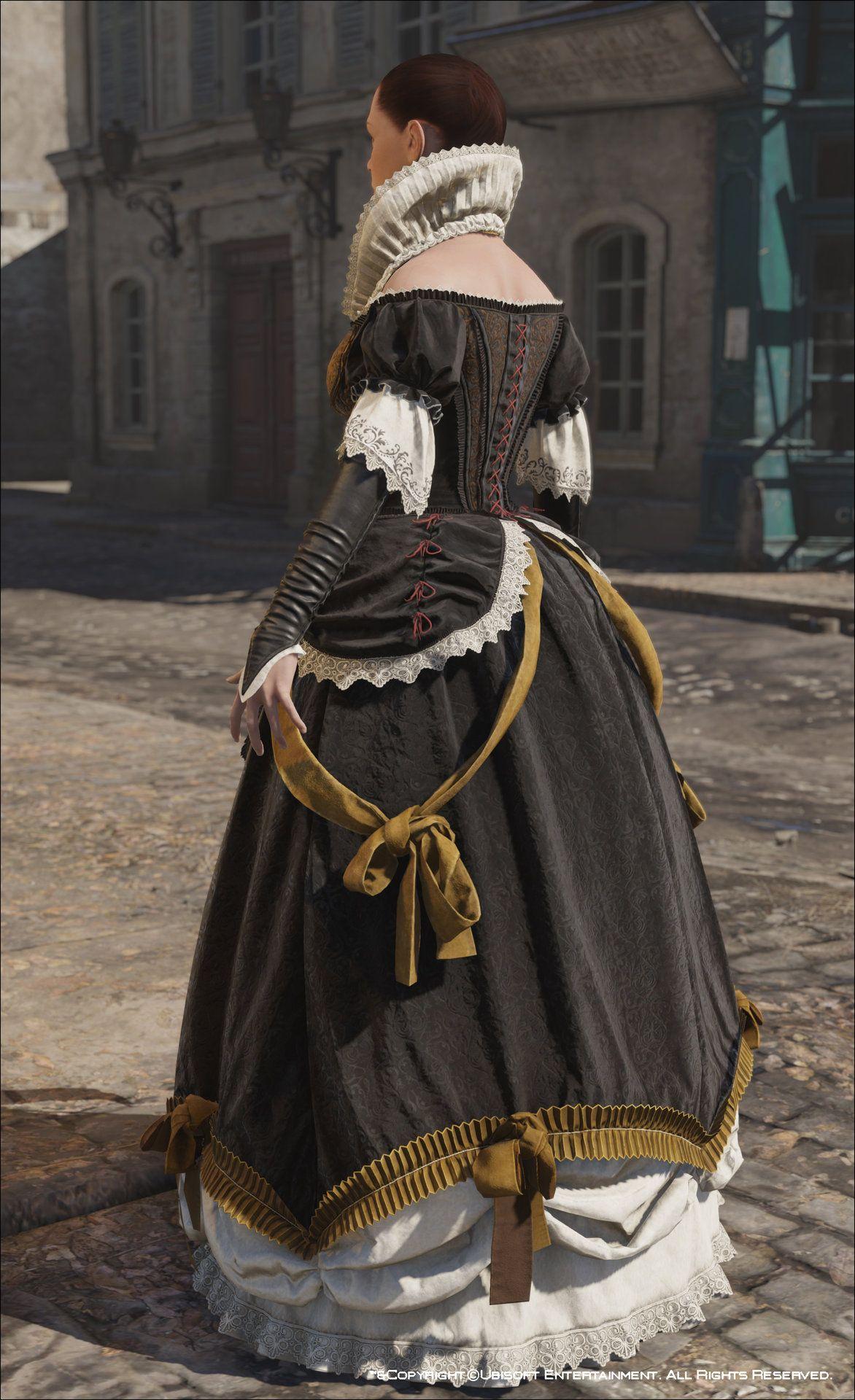 ArtStation - Assassin\'s Creed Unity, Elise\'s Evening Dress , Mathieu ...