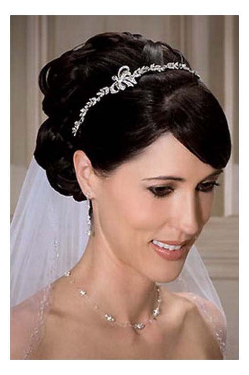 Hairstyles Wedding Hair With Veil And Tiara Hairstyles With Tiara