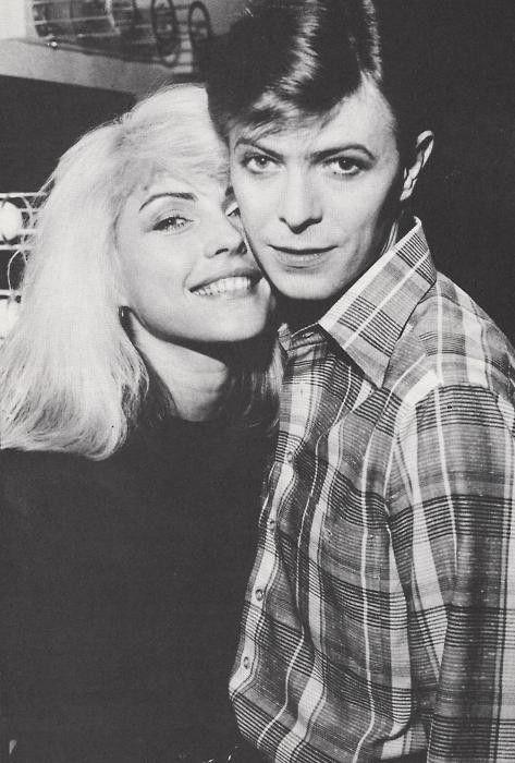 Debbie Harry & David Bowie. So cute.