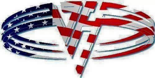 76dfc6a57d5 Sammy Hagar Era - American Flag Van Halen Logo