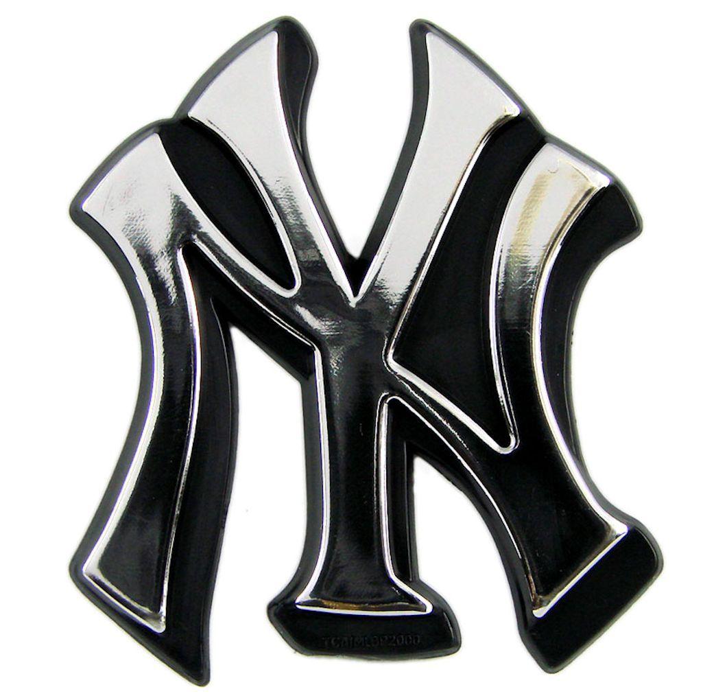 New York Yankees Auto Emblem Silver backorder Autos