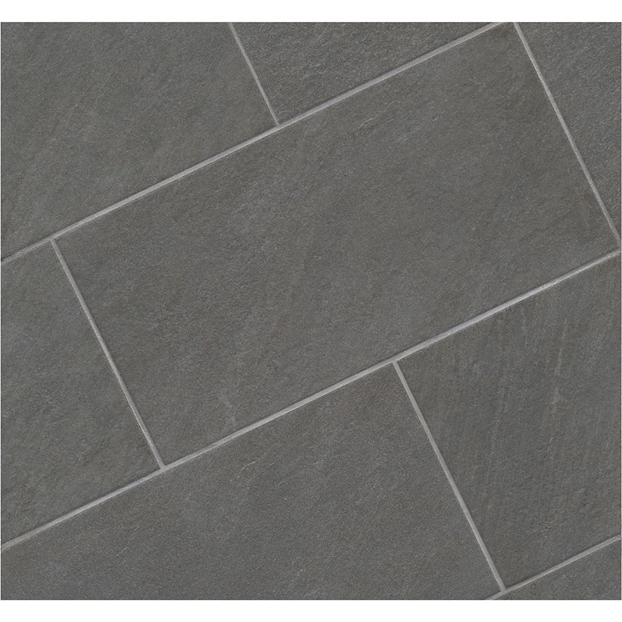 Shop Style Selections Galvano Charcoal Porcelain Granite Floor And