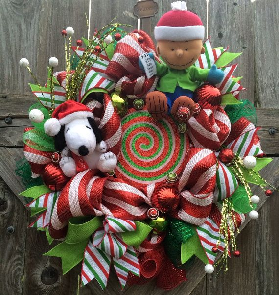 Snoopy Christmas Wreath Charlie Brown Christmas By