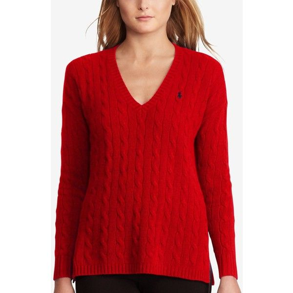 Polo Ralph Lauren Cable-Knit Sweater ($100) ❤ liked on Polyvore featuring  tops