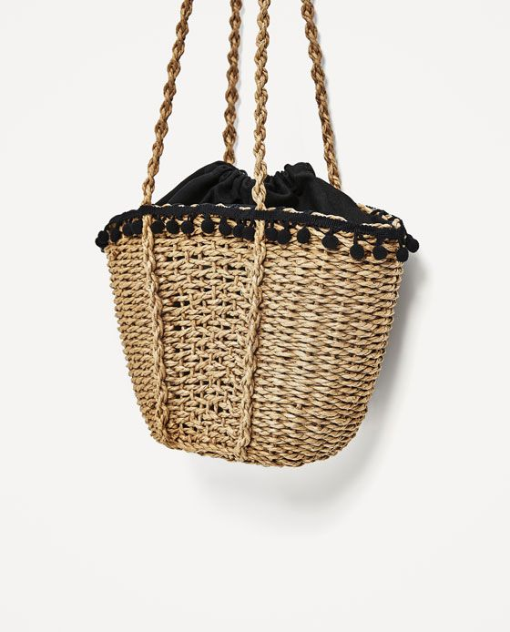 Image 3 of POMPOM BASKET from Zara | Bags and Purses and Clutches ...