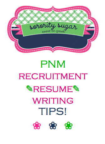 writing a sorority rush resume is different than crafting a