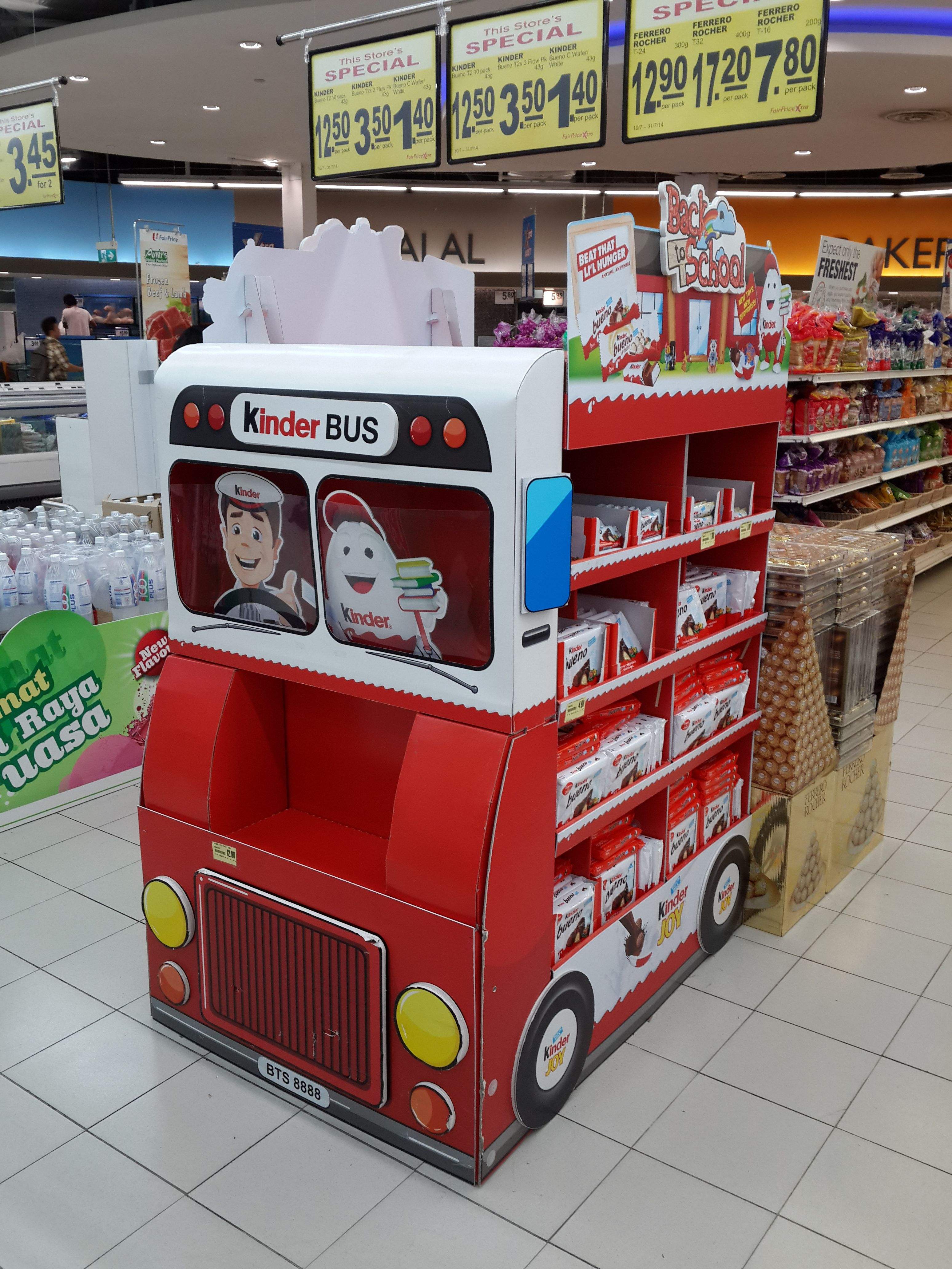 Exhibition Booth For Sale : Kinder bus supermarket in store promotion pos design