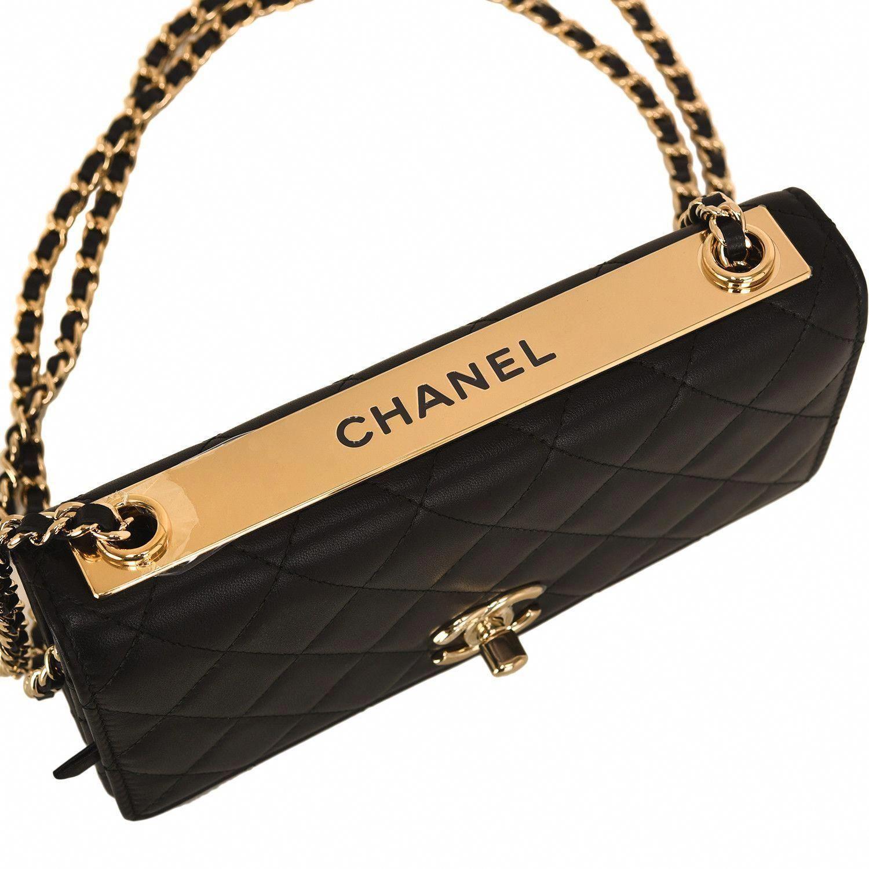 4c6de54d4202 $2,400 Chanel Black Quilted Lambskin Trendy CC Wallet On Chain (WOC)  #Chanelhandbags