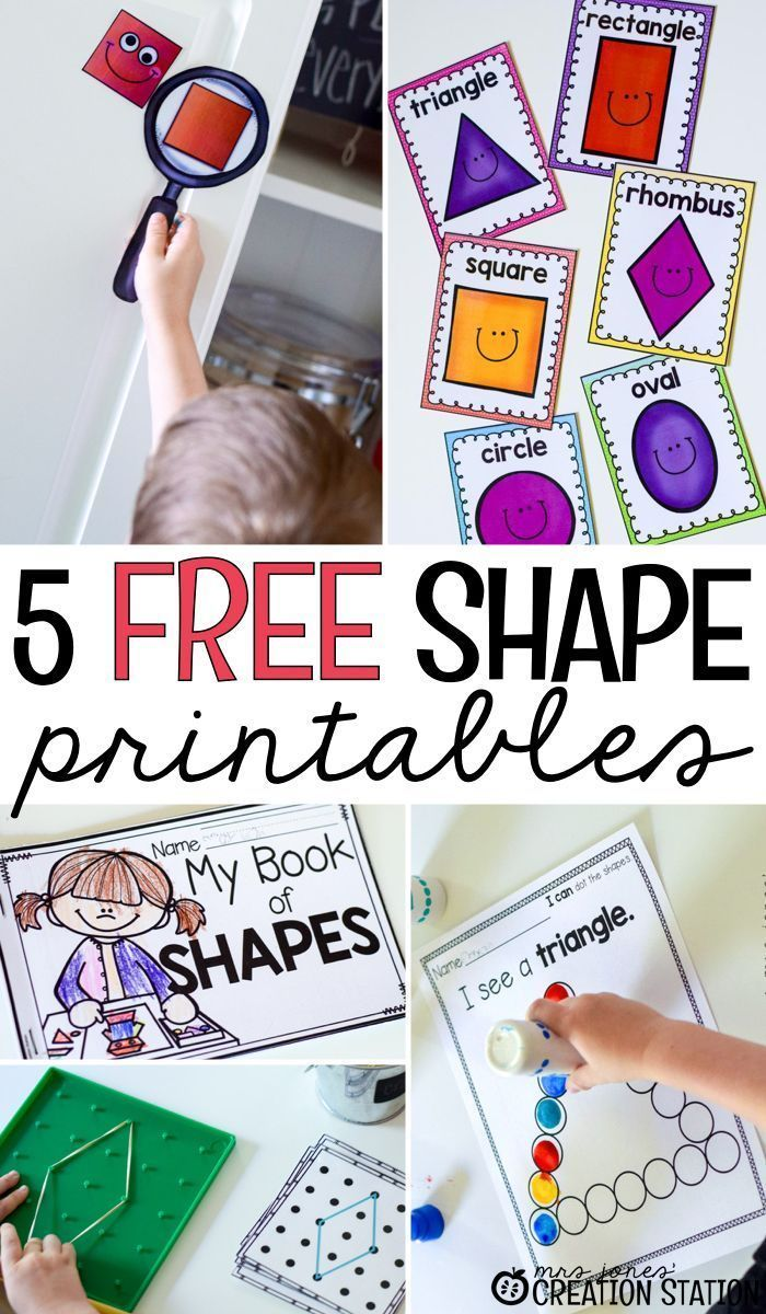 Shape Activities And Printables For Little Learners Mrs Jones Creation Station Shapes Kindergarten Teaching Shapes Shapes Preschool [ 1200 x 700 Pixel ]