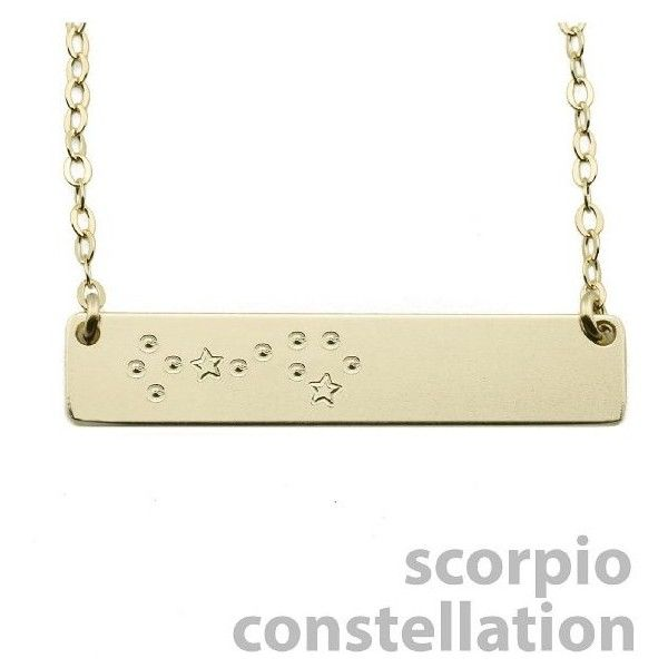 the smith scorpio constellation nameplate necklace 75