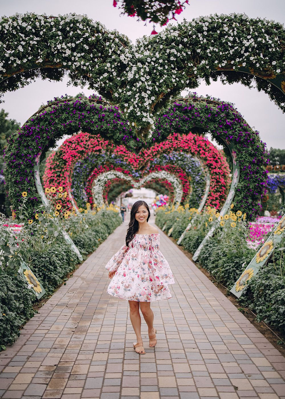 The Most Instagrammable Place in Dubai Floral Hearts at